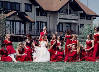 Платья для подружек невесты в парк-отеле Алтай Green